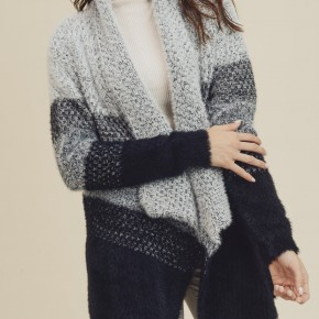 Color Block Sweater Cardigan