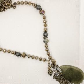 Bernadette Tear Stone Pendant Necklace