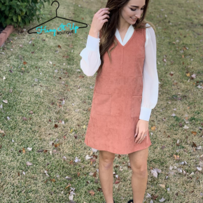 Cozy Casual Corduroy Dress- Ginger