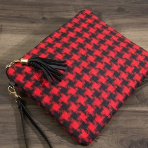 Crossbody Purse- Red Checkered