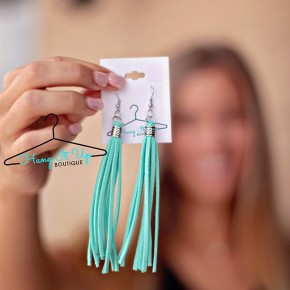 Shania Leather Earrings- 3 Colors!