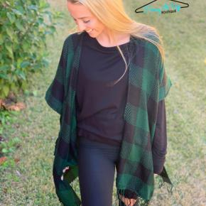Switching Sides Kimono- Green