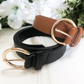 Contain It All Belt Set- Black and Camel