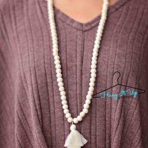 Jade Tassel Necklace- 10 Colors!