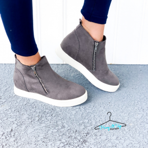 No Missteps Sneakers- Grey