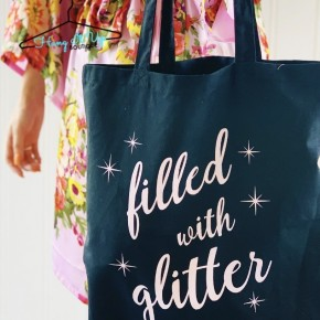 """Filled with Glitter"" Tote Bag"