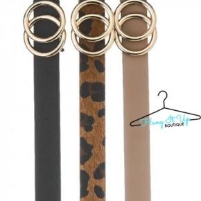 Seeing Double Belt Set- Beige, Chestnut, Black