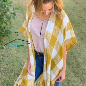 Switching Sides Kimono- Mustard