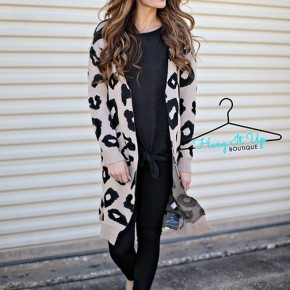 Lacey leopard Cardigan