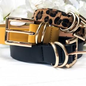 Experience it All Belt- (Black, Leopard, Mustard)