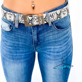 Make You Smile Snake Print Belt