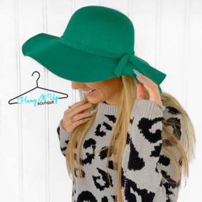 Feeling Chic Floppy Hat- Green