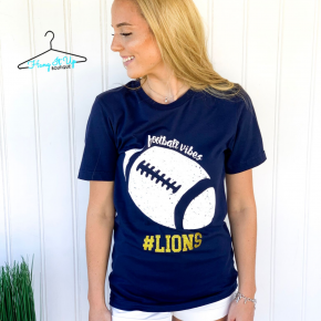 """Football Vibes"" Lions Tee"