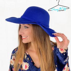 Feeling Chic Floppy Hat- Royal