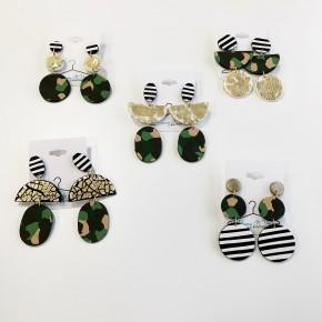 Kayce Earrings: Camo Collection