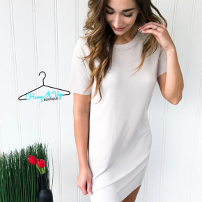 Time to Relax Dress- Taupe