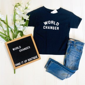 """World Changer"" Tee- Youth"