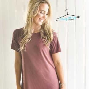 Time to Relax Dress- Mauve
