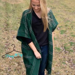 Plotted Course Kimono- Green
