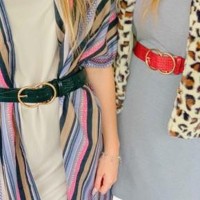 Faux Crocodile Leather Belt- 4 Colors!