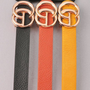 Waist Time Belt- Black/Chestnut/Mustard