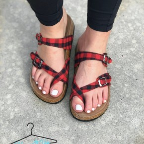 Birk Sandals- Plaid