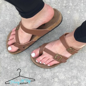 Birk Sandals- Brown