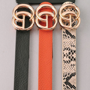 Waist Time Belt- Black/Chestnut/Snake
