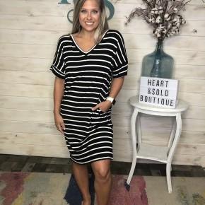Zenana Stripe T Shirt Dress