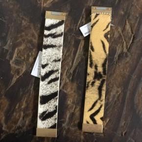 Animal Print Faux Fur Magnetic Cuff Bracelet