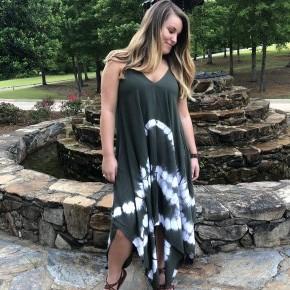 Tie Dye Shark Bite Dress