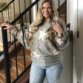 Adora Grey Star Sweater