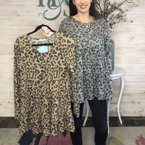 Leopard Brushed Babydoll Tunic