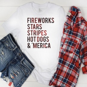 Fireworks, Stars, Stripes Graphic Tee *Final Sale*