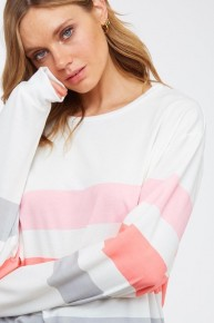 Stripes and Good Times Top