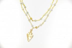 Arrowhead Double Wrap Necklace