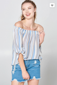 Cool It Off the Shoulder Top