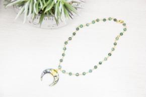 Galaxy Crescent Necklace