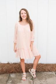 Frilly Ruffle Dress-FINAL SALE