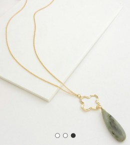 Clover and Teardrop Necklace