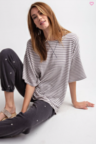Living For Stripes Top