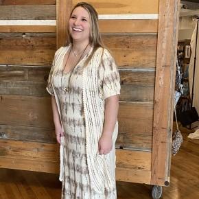 Tie Dye Maxi Dress (reg & plus sizes)