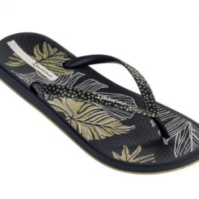 Gold Leaf Flip Flops