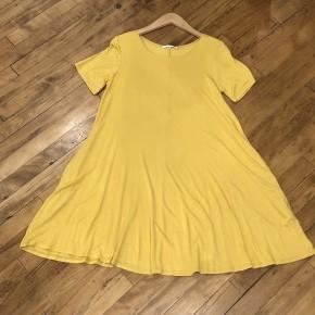Mustard Basic Tee Dress with Pockets