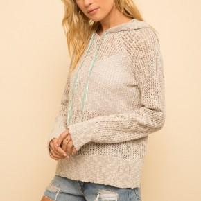 Textured Light Weight Sweater Hoodie