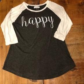 Happy ¾ Sleeve