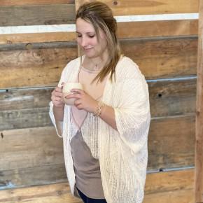 Open Weave Cardi Plus