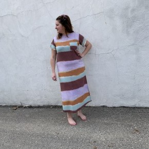 Lavender Multi Stripe Maxi Dress