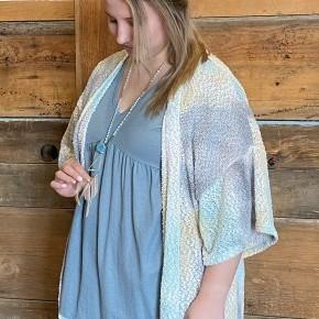 Bubble Knit Cardi Plus