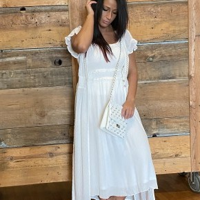 Swiss Dot Maxi Cover-up